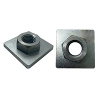 1x ADJUSTABLE STUMP PLATE Weld On Nut M24 90mm x 90mm