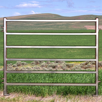Basic Portable Cattle Yard Panels 6 Bars + Drop Pins BNE Horse Outdoor Animal Enclosure