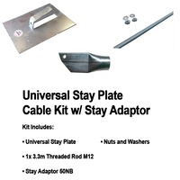 UNIVERSAL STAY JUMBO PLATE THREADED ROD KIT INCL STAY ADAPTOR 50NB