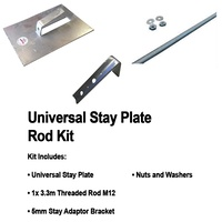 UNIVERSAL STAY JUMBO PLATE THREADED ROD KIT INCL BRACKET