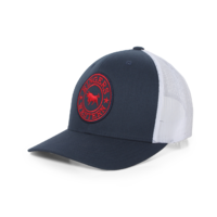 Signature Bull Trucker Navy & White with Navy & Red Patch