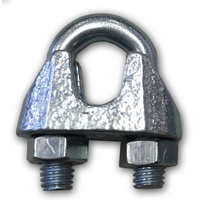 1x 8mm WIRE ROPE CABLE CLAMP Steel Electro Galvanized Grip Clip